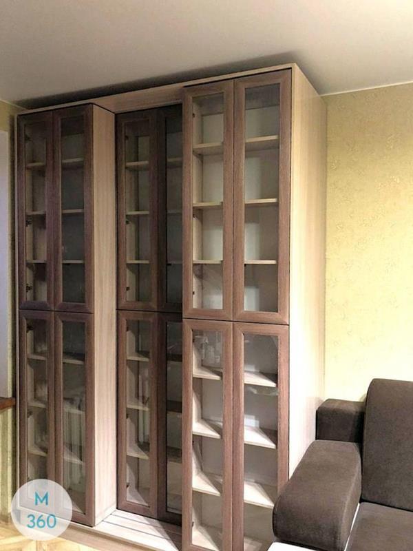 Книжный шкаф со стеклянными дверцами Коламбус Арт 000122055
