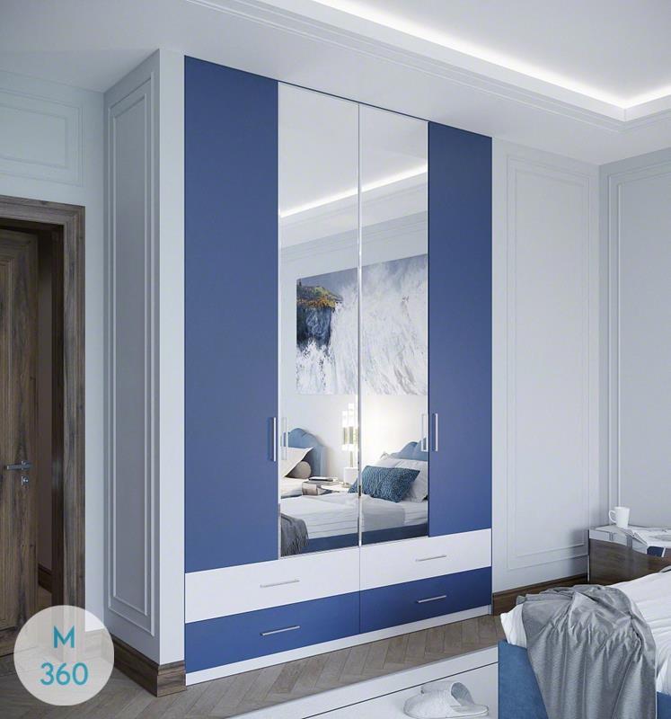 Синий распашной шкаф Эндрю Арт 000357768