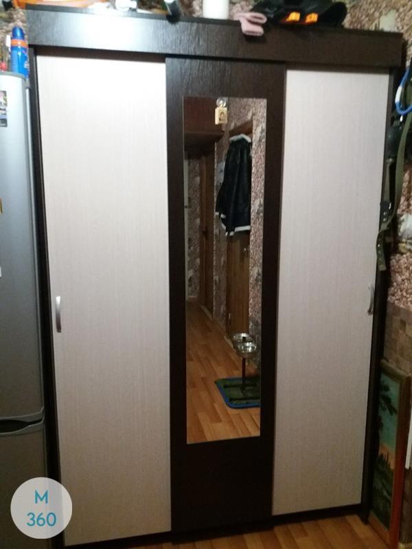 Черный распашной шкаф Лука Арт 000761249