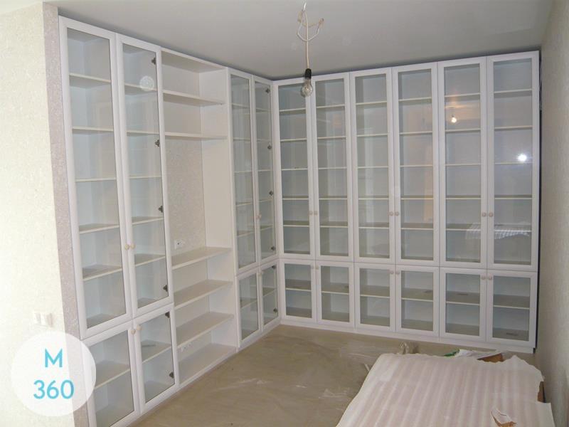 Книжный шкаф со стеклянными дверцами Анжелика Арт 000958976