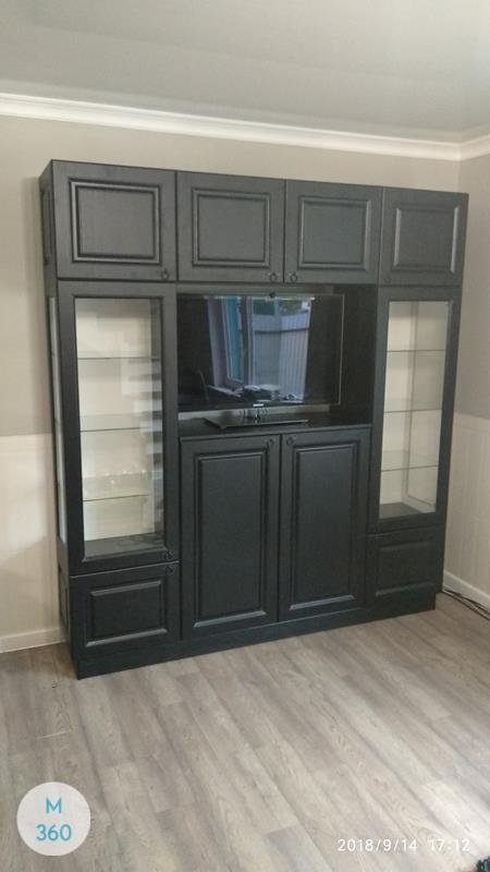 Черный распашной шкаф Санкуру Арт 001363718