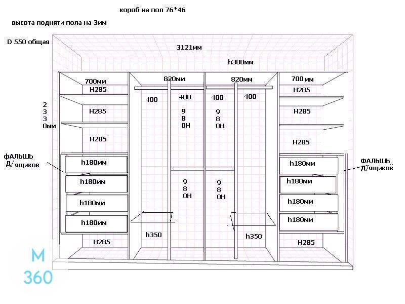 Встроенный шкаф в прихожую Рэя Арт 001492441