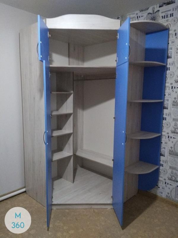 Синий распашной шкаф Риф Арт 002222322
