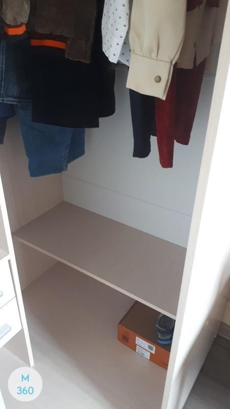 Узкий гардеробный шкаф Клинтон Арт 004437925