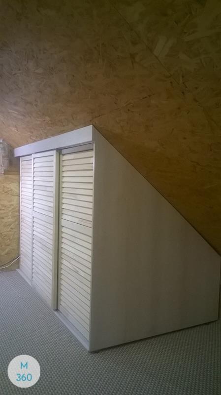 Шкаф с жалюзийными дверцами Модесто Арт 005862018