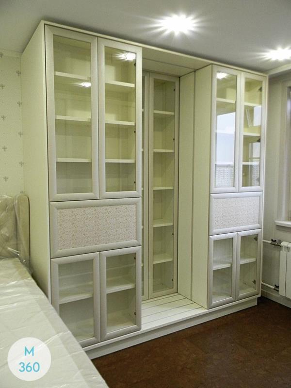 Книжный шкаф со стеклянными дверцами Эрланген Арт 006672109