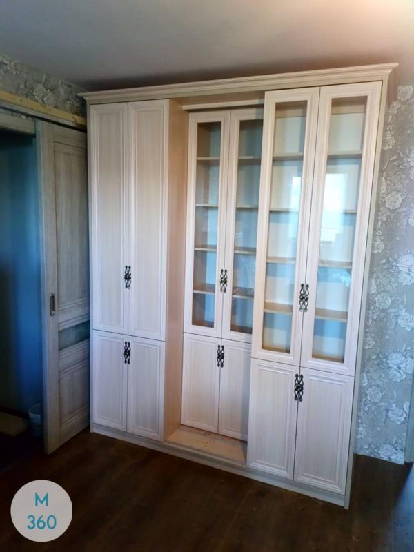 Книжный шкаф со стеклянными дверцами Батайск Арт 006895029