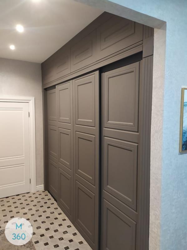 Серый распашной шкаф Касимиро Арт 007863727