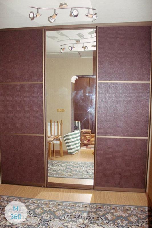 Шкаф купе с кожаными вставками Анже Арт 008636671