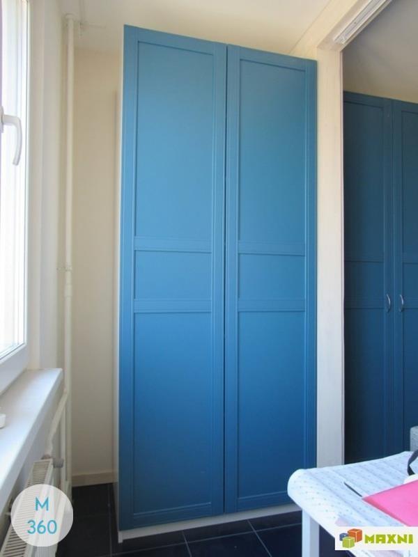 Синий распашной шкаф Котбус Арт 009442739
