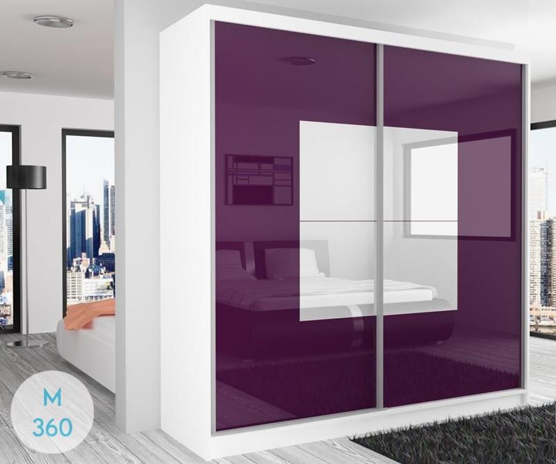Фиолетовый шкаф купе Аурум Арт 009581869