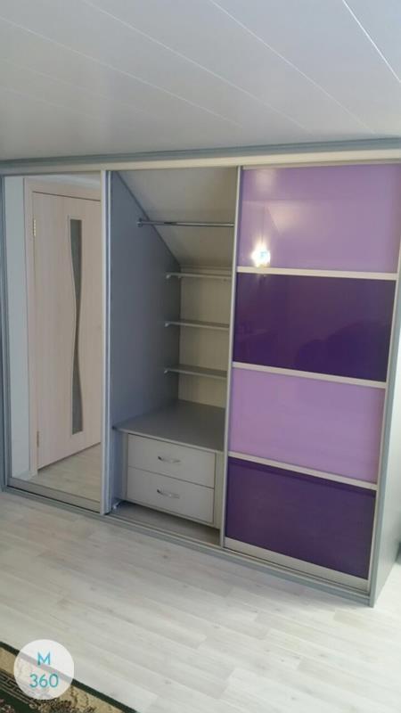 Фиолетовый шкаф купе Иоанна Арт 009599986